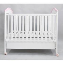 Дитяче ліжечко Geoby (Goodbaby) MC801 колір ZP - білий з рожевим